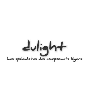 """Cintre Darimo Ellipse 40cm UD brillant logo rouge """"Darimo blanc"""""""