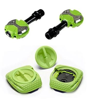 Speedplay Zero Chromo Team Green pedals (Walkable)